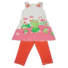 Terno das crianças da menina do bebê do verão na roupa dos miúdos
