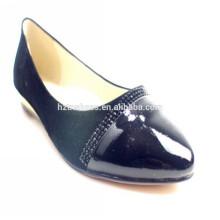 Горячие надувательства 2014 женщин клина обувают изящные ботинки ботинок балета ботинка балерины ботинок черных