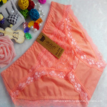 OEM wholesale China cheap orange sexy comfortable lace cotton fancy underwear 518