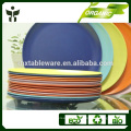 disposable biodegradable bamboo powder & fiber material dishes & plates