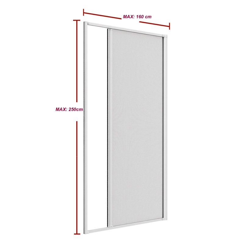 Aluminum retractable screen door