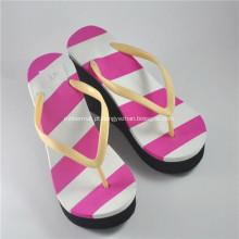 Mulheres promocionais listras coloridas EVA Flip-Flops