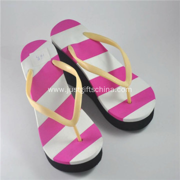 Promotional Women Colourful Stripes EVA Flip Flops