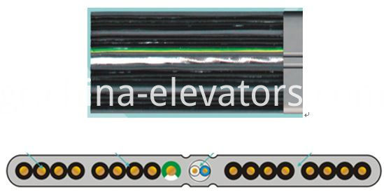 Elevator Flat Traveling Cable 16 Cores