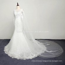 One Sleeves Formal Drape Asymmetrical Wedding Dress