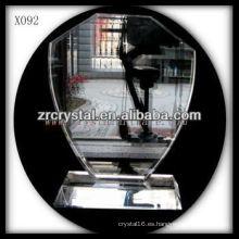 trofeo de cristal en blanco X092