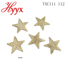 HYYX High Quality 2018 Nueva decoración del árbol de Papá Noel Colorful Star Shape Art Lentejuelas Colgante