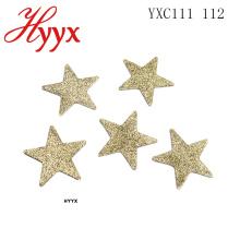 HYYX Alta Qualidade 2018 New santa claus decoração da árvore Colorida Forma de Estrela Arte Pingente De Lantejoulas