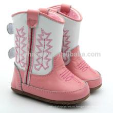 Красивые девушки ботинки розовые ботинки младенца напольные ботинки детей оптом