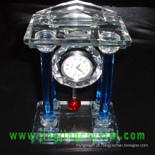 Relógio De Mesa De Vidro De Cristal Agradável