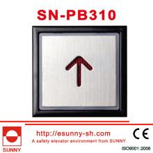 Stainless Steel Words Slice Elevator Push Buttton (SN-PB310)