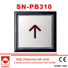 Stainless Steel Words Slice Elevator Push Buttton (SN-PB310)