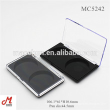MC5242 Paletas cosméticas vazias de duas cores por atacado, caixa corada vazia, blusher vazio do recipiente