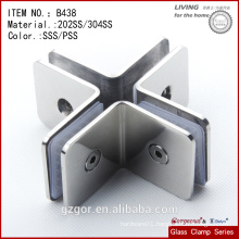 Made in China 304SS cross clamp of four sides/ glass to glass clamp/hinge