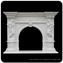 Dekoration Stein Carving Indoor White Marmor Kamin Kaminsims