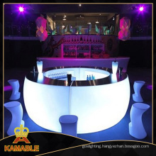 Hotel Restaurant Round Table LED Bar Counter (H019)