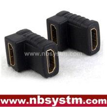 Adaptador HDMI de 90 graus Um tipo feminino para fêmea