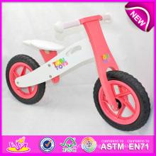 Stock! ! ! ! Jouet en bois de bicyclette de 2014 stocks pour des enfants, stock Jouet en bois de vélo pour des enfants, équilibrage en bois de bicyclette réglé pour l'usine de bébé W16c088