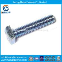 Em Stock Fornecedor Chinês Melhor Preço ASME / ANSI B 18.2.1 Aço Carbono / Aço Inoxidável Flat Head Bolt