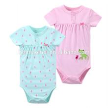 Großhandels-weiches Breathable-Gewebe-Baby strickte Polka-Punkt-Spielanzug-Druck neugeborenes Baby-Kleidungs-Spielgeräte