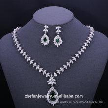 joyería de lujo chapado en oro conjuntos de joyas etiqueta privada jewerly joyería de lujo chapado en oro conjuntos de joyas cuentas de circonio