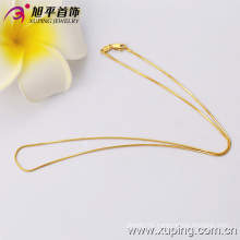 Xuping Fashion 24k Gold Color Thin Necklace (42516)