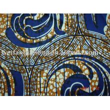 Tissu 100% coton africain imprimé à la cire
