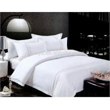 Hotel Gebrauch Plain Dyed Stickerei Bettwäsche Set oder Duvet Cover Bettwäsche Set
