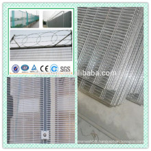 pvc coated anti-climb yard guard welded metal razor wire mesh fence ( factory price)