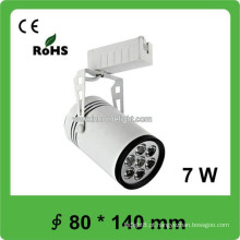 7W Exposição Hall COB Track Light Led com Pure White