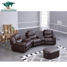 Top Grain Leather Cinema Black Colour Recliner Sofa Chair