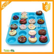 Food Grade Silikon 24 Cup Premium Cupcake Pan