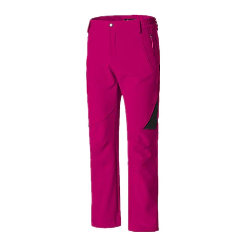 Women S Insulated Ski Pants Softshell Fleece Lined Windproof Overalls4