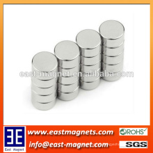 high quality small radial magnetized N35-52 neodymium magnet pins/disc shape magnet for hot sale