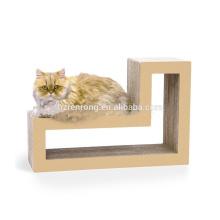 papelão ondulado rolando brinquedo scratcher de gato