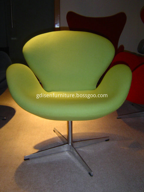 Mid century swan chair