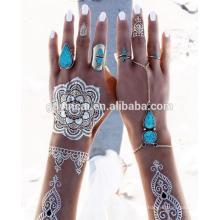 Tatuagens temporárias personalizadas de hena (série de desenhos mehndi)