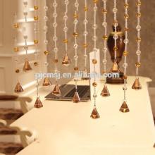 vente chaude cristal ambre ornent perles rideau suspendu cristal pour la décoration de la maison qui respecte l'environnement