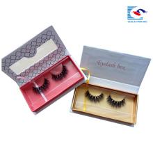 custom fake mink eyelash packaging with clear window