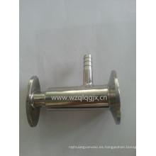Válvula de muestra roscada de acero inoxidable sanitaria