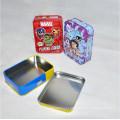 Caixa de lata de empacotamento de cartão personalizado com tampa articulada