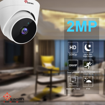 Cámara de seguridad domo hd de 2mp para interiores