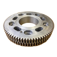 Custom Machined Steel Lebih Besar Diameter Double Spur Gear