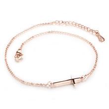 Bracelet à la cheville avec chaîne pour femmes, 11 pouces