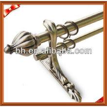 Luxus-Aluminium-Doppel-Metall verstellbare Vorhang-Stange Halterung