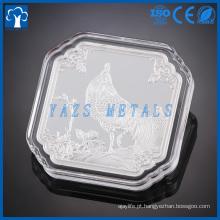 Nova moeda comemorativa de estilo prata série de prata para presente