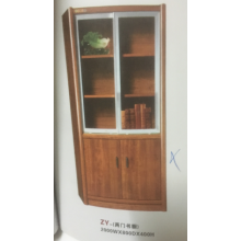 Bookcase with Push-pulling Glass Doors