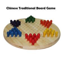 Handmade clássico viagem bambu chinês Checker jogo