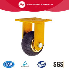 Fixed Top Plate Elastic Rubber Industrial Caster