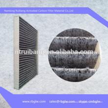 Medios de filtro de fabricación de tela de filtro de aire de carbón activado